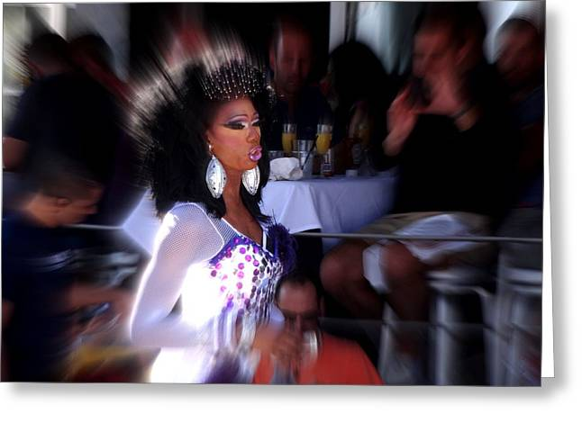 York Beach Greeting Cards - Priscilla Queen of Miami  Greeting Card by Funkpix Photo Hunter