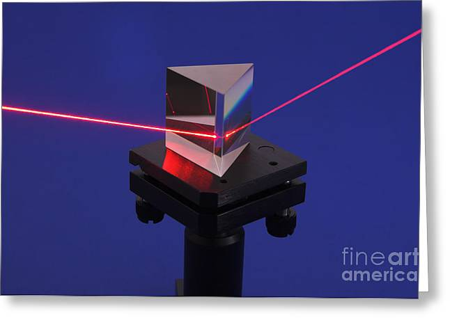 Triangular Greeting Cards - Prism & Laser Greeting Card by GIPhotoStock