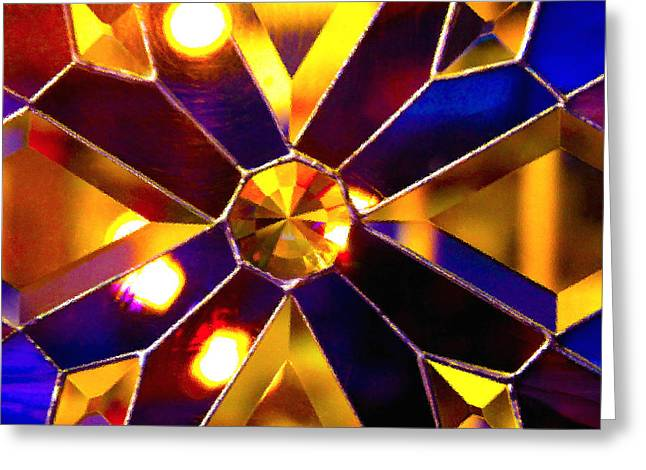 Prism Glass Spectrum Greeting Card by Karon Melillo DeVega