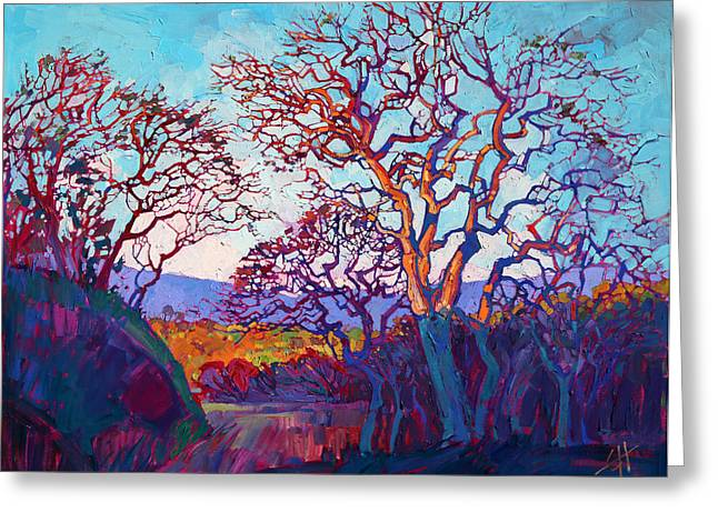 Paso Robles Greeting Cards - Prism Lights Greeting Card by Erin Hanson