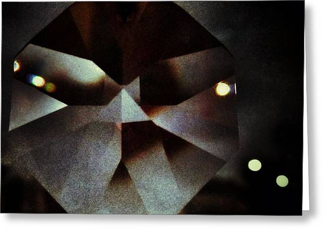 Black Lines Greeting Cards - Prism of The Darkness Greeting Card by Marianna Mills
