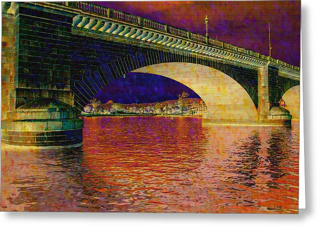 Arizona Greeting Cards - Prismatic London Bridge Greeting Card by Fred Larson
