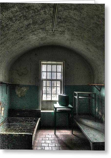Sonny Greeting Cards - Prison Cell Greeting Card by Jane Linders