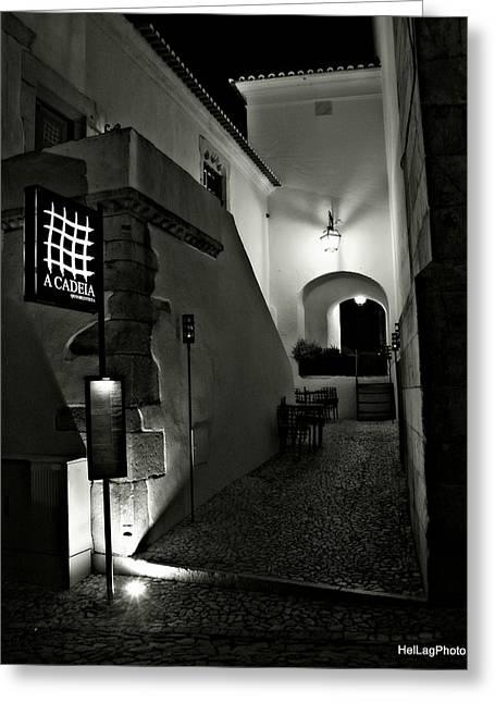 Night Lamp Greeting Cards - Prison Greeting Card by Helena Lagartinho