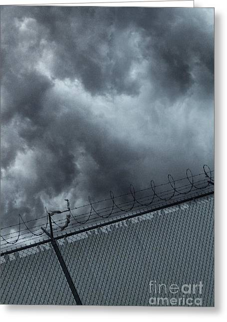 Detention Greeting Cards - Prison Greeting Card by Margie Hurwich