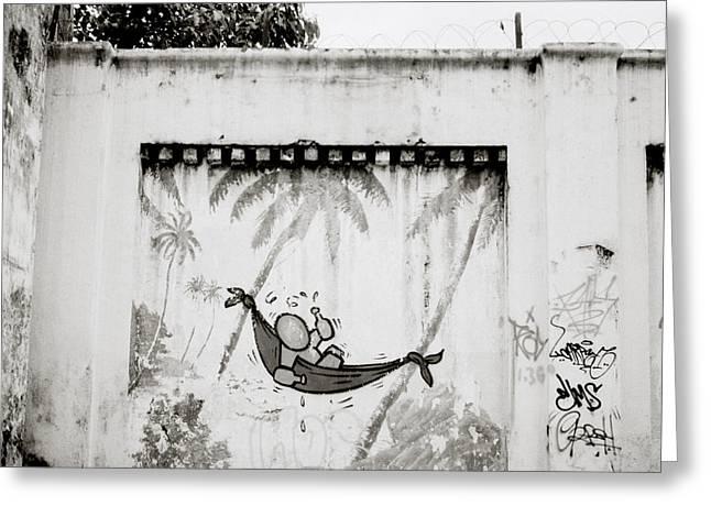 Prison Mural Greeting Card by Shaun Higson