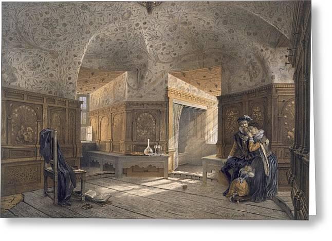 Prison Of King Erik Xiv, Son Of Gustav Greeting Card by Karl Johann Billmark