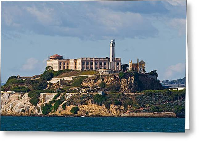 Alcatraz Greeting Cards - Prison On An Island, Alcatraz Island Greeting Card by Panoramic Images