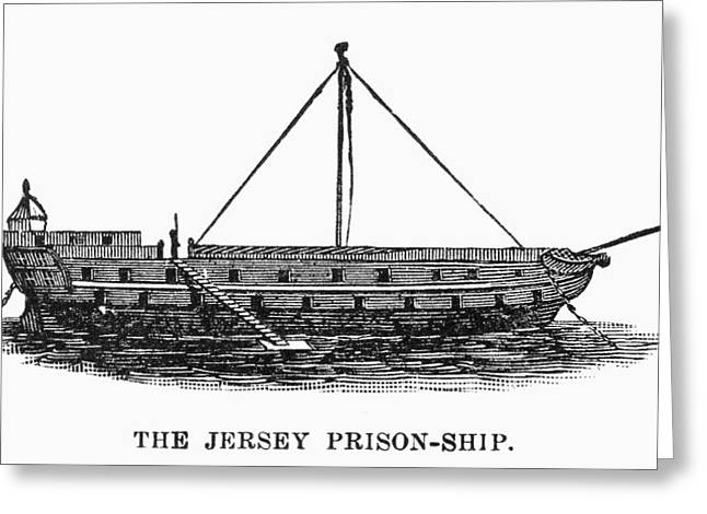 PRISON SHIP: JERSEY Greeting Card by Granger