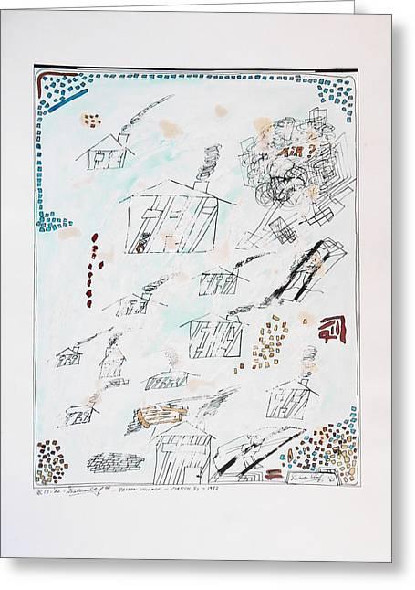 Prison Village Greeting Card by Dietmar Scherf