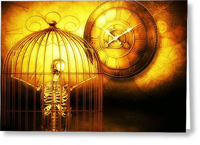Psp Greeting Cards - Prisoner of Time  Greeting Card by Putterhug  Studio