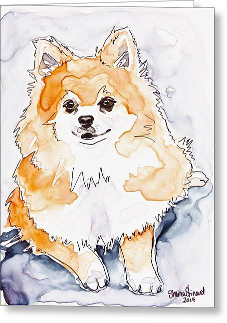 Prissy Greeting Card by Shaina Stinard