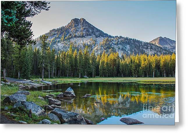 Haybale Greeting Cards - Pristine Alpine Lake Greeting Card by Robert Bales