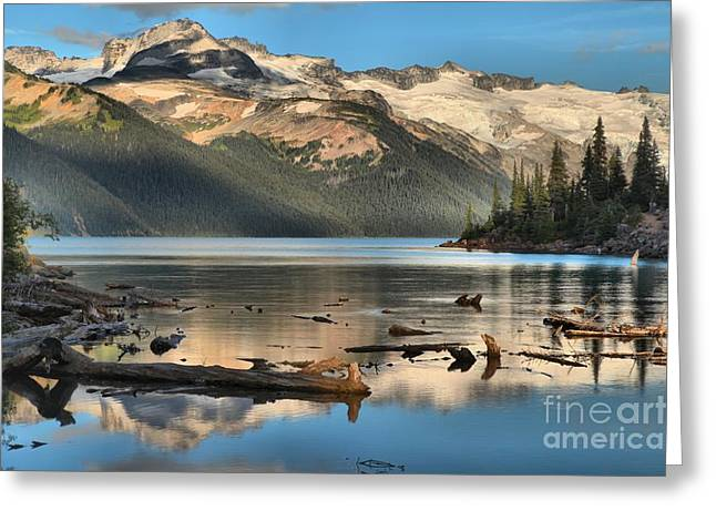 Pristine Canadian Coast Lake Greeting Card by Adam Jewell
