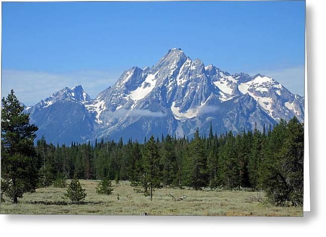 Grand Teton Photographs Greeting Cards - Pristine Peaks Greeting Card by Mike Podhorzer