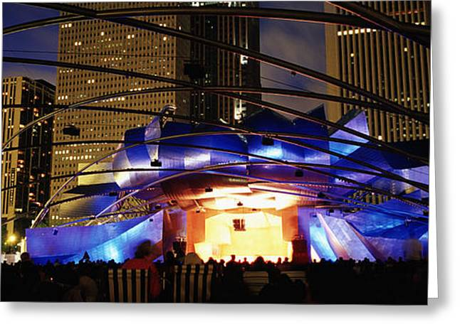 Theater Greeting Cards - Pritzker Pavilion, Millennium Park Greeting Card by Panoramic Images