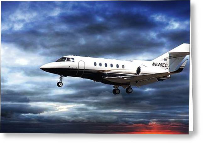 Jetliner Greeting Cards - Private Business Greeting Card by Aaron Berg