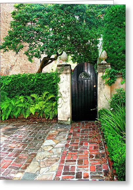 Featured Art Greeting Cards - PRIVATE CHARLESTON Charleston SC Greeting Card by William Dey
