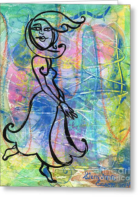 Tina Turner Greeting Cards - Private Dancer Greeting Card by Genevieve Esson
