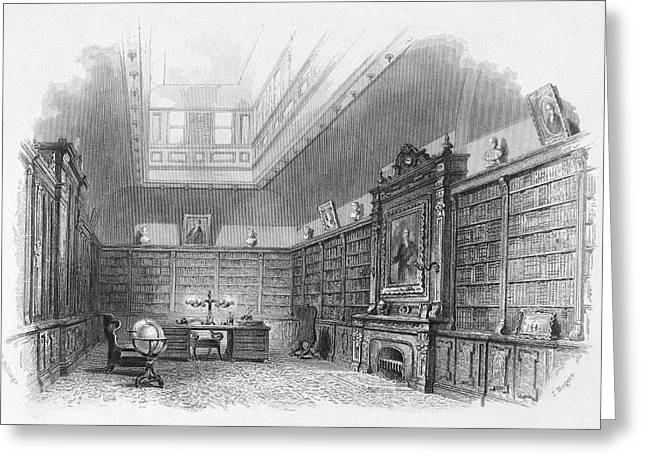 Private Library, C1850 Greeting Card by Granger