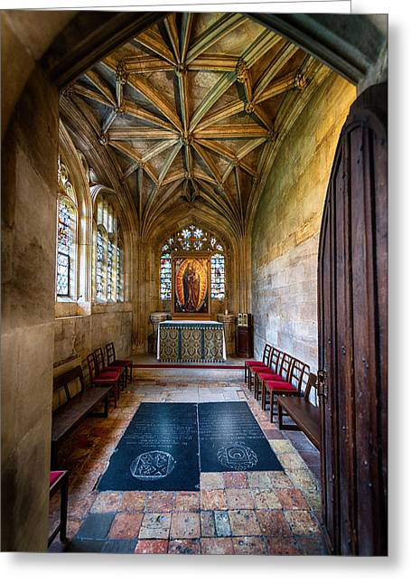 """""""prayer Room"""" Greeting Cards - Private Prayer Greeting Card by Kristen Meister"""
