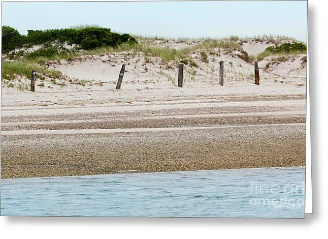 Sand Fences Greeting Cards - Private Property Greeting Card by Michelle Wiarda