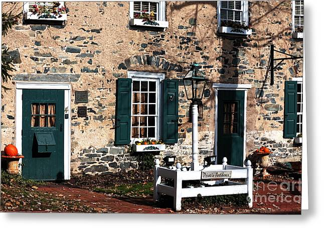 Old School House Greeting Cards - Private Residence Greeting Card by John Rizzuto
