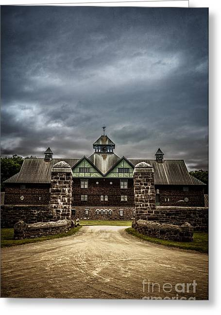 Storm Clouds Greeting Cards - Private School Greeting Card by Edward Fielding