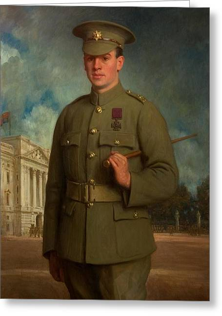 Wwi Paintings Greeting Cards - Private Thomas Whitham, Vc, 1918 Greeting Card by Isaac Cooke