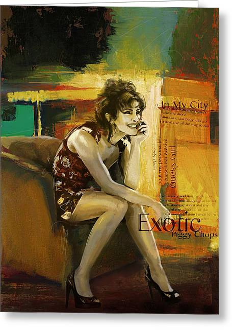 Famous Actress Greeting Cards - Priyanka Chopra Greeting Card by Corporate Art Task Force
