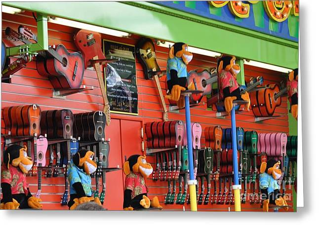 Toy Guitars Greeting Cards - Prizes at Fair  Greeting Card by Virginia  Black