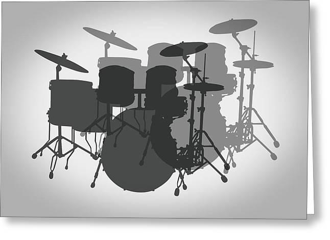 Hi Hat Greeting Cards - Pro Drum Set Greeting Card by Daniel Hagerman
