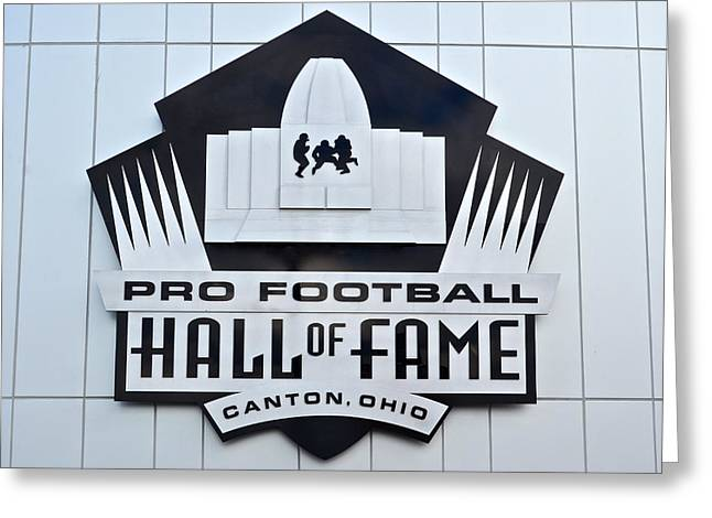 Goal Line Greeting Cards - Pro Football Hall Of Fame Greeting Card by Frozen in Time Fine Art Photography