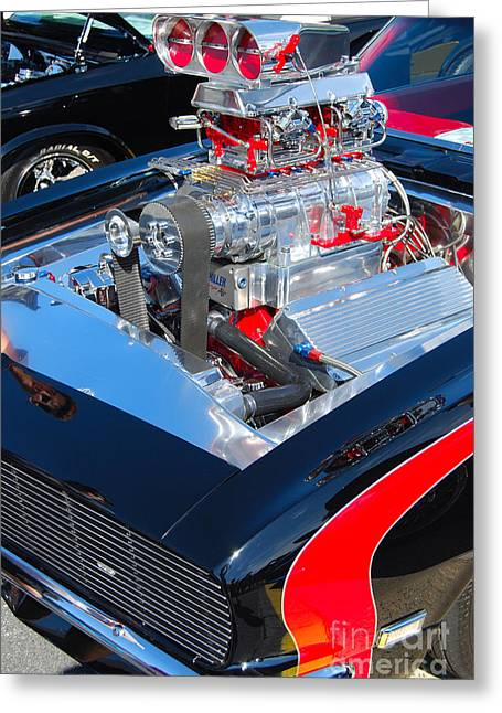 Charlotte Greeting Cards - Pro Street Hot Rod Camaro Greeting Card by Mark Spearman