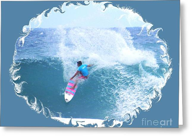 Surfing Photos Greeting Cards - Pro Surfer Billy Kemper Greeting Card by Scott Cameron