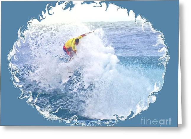 Surfing Photos Greeting Cards - Pro Surfer Evan Valiere Greeting Card by Scott Cameron