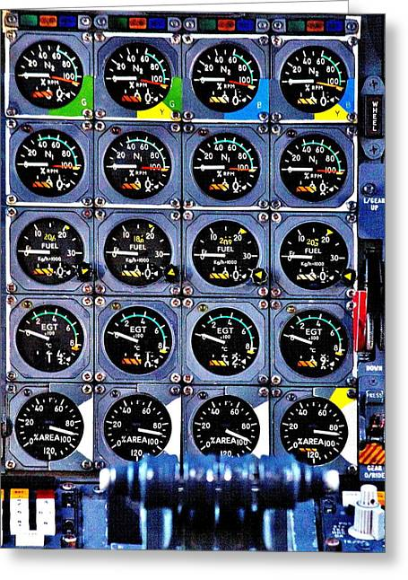 Throttle Greeting Cards - Concorde Controls Greeting Card by Benjamin Yeager