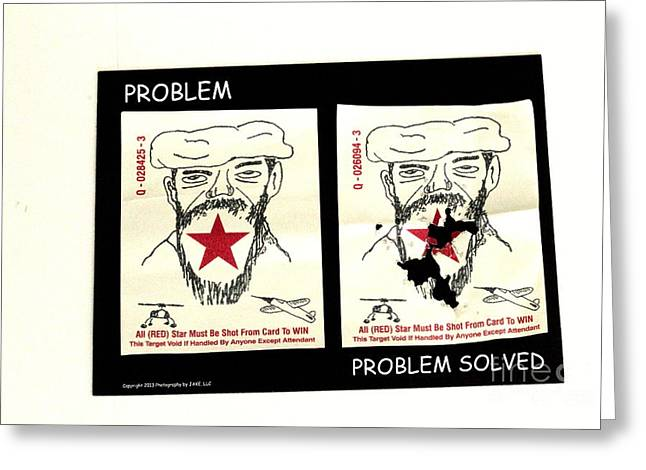 Terrorist Greeting Cards - Problems Greeting Card by Joe Jake Pratt
