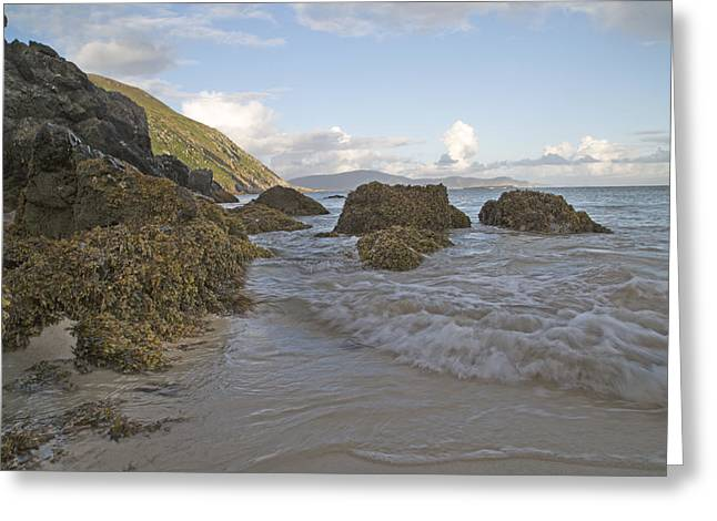 Green Day Greeting Cards - Problems Solved Keem Beach Ireland Greeting Card by Betsy A  Cutler