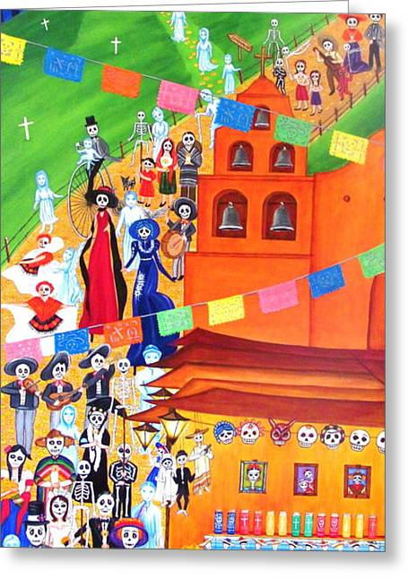 Procession Greeting Card by Evangelina Portillo