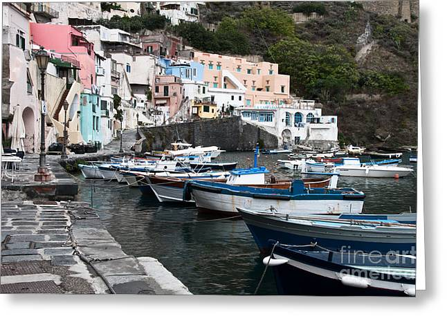 Naples Italy Greeting Cards - Procida Greeting Card by Marion Galt
