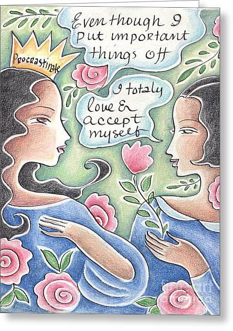 Jackson Pastels Greeting Cards - Procrastination Greeting Card by Elaine Jackson