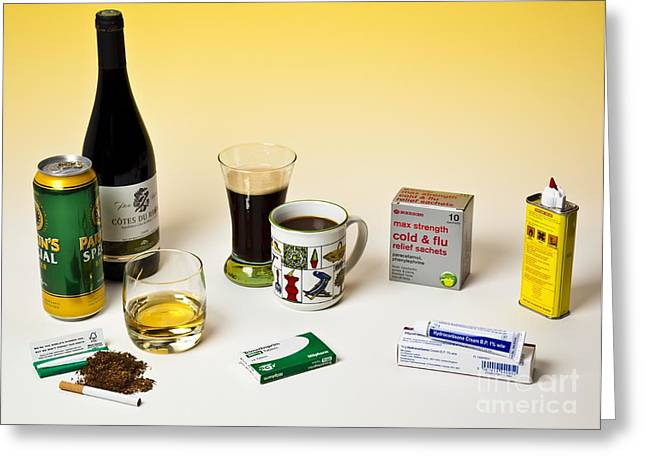 Hydrocortisone Greeting Cards - Products Containing Drugs Greeting Card by Martyn F. Chillmaid