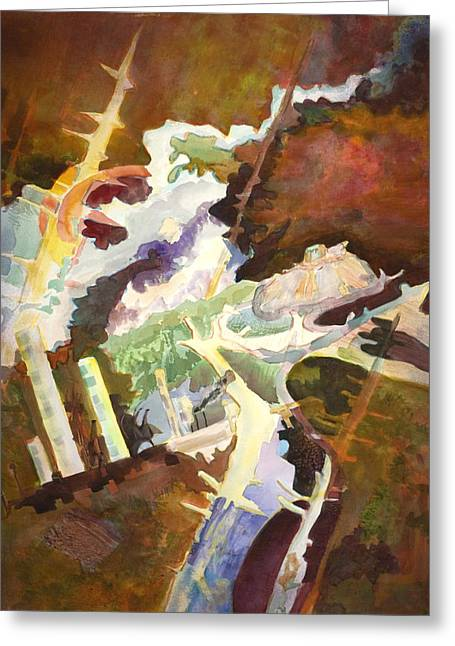 Polution Greeting Cards - Profane Abuse of the Earth Greeting Card by Susan Cafarelli Burke