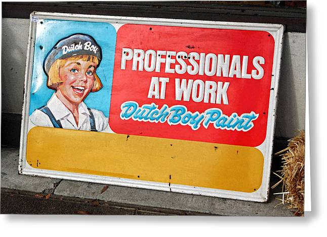 Paint Photograph Greeting Cards - Professionals at Work Greeting Card by Suzanne Gaff
