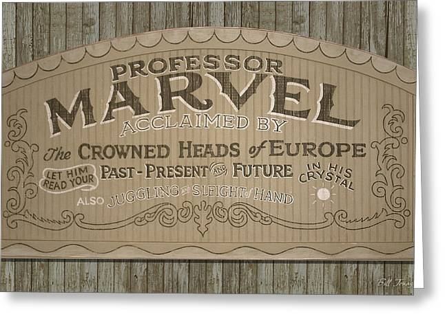 Movie Prop Paintings Greeting Cards - Professor Marvel Sign Greeting Card by Bill Jonas
