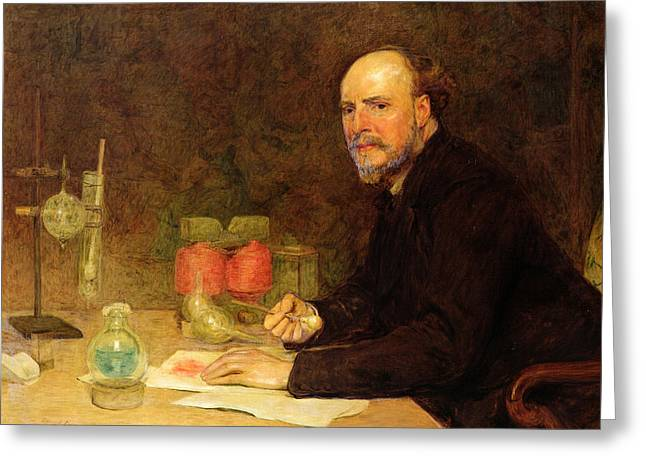 Experiment Greeting Cards - Professor Sir James Dewar 1842-1923 After Sir William Orchardson 1832-1910 Greeting Card by Edmund Dyer