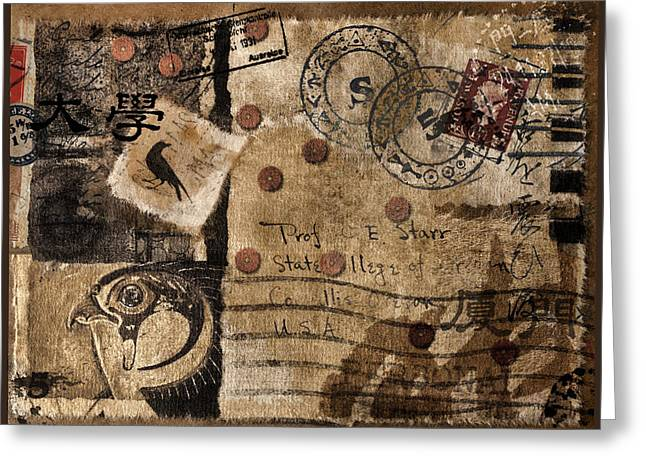 Hieroglyphics Greeting Cards - Professor Starr Greeting Card by Carol Leigh