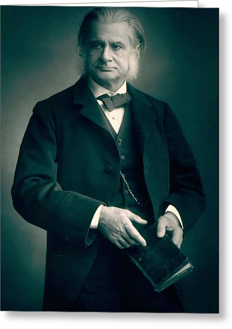 Debating Greeting Cards - Professor Thomas H Huxley Greeting Card by Stanislaus Walery