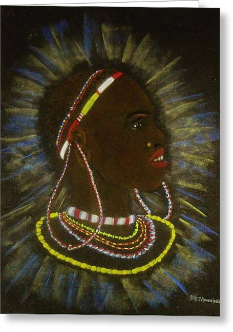 Profile Pastels Greeting Cards - Profile Greeting Card by Celeste Manning